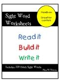 Sight Words, Read it, Build it, Write it