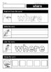 Sight Words - Read it - Trace it - Stamp it - Color it (Pre-Primer Words)