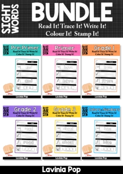 Sight Words Read it - Trace it - Write it - Stamp it - Color it BUNDLE