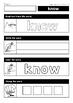 Sight Words Read it - Trace it - Write it - Stamp it - Color it (Grade 1)