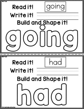 Sight Words Read it Write it Build it
