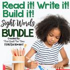 Sight Words Read it Write it Build it