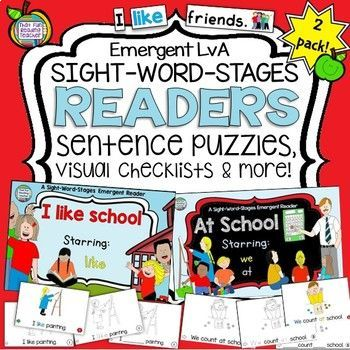 Sight Word Leveled Readers and Activities: Back to School!