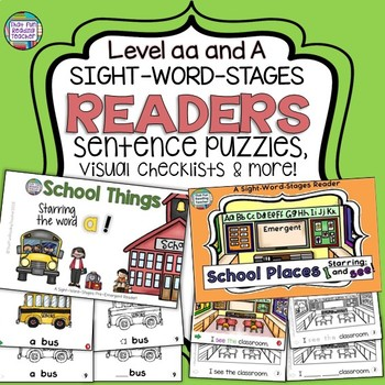 Sight Word Leveled Readers and Activities: School | Distance Learning