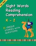 Sight Words Reading Comprehension for Kindergarten, 1st Gr