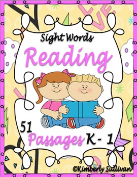 Sight Words Reading Comprehension passages
