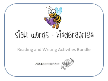 Sight Words Reading and Writing Bundle - Kindergarten