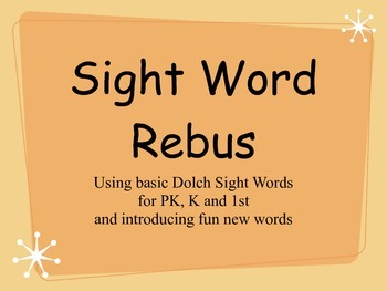Rebus Puzzle Posters - First Sight Words Fluency - Bulleti
