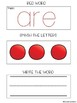 Sight Words (Red Words) Multisensory Practice (Orton-Gillingham)