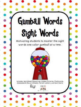 Sight Words Resources - Gumball Words by Kinder League