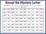 Sight Words; Reveal Mystery Letter B