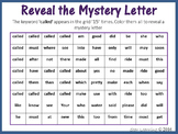 Sight Words; Reveal Mystery Letter G