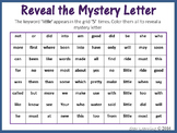 Sight Words; Reveal Mystery Letter I