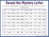 Sight Words; Reveal Mystery Letter K