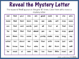 Sight Words; Reveal Mystery Letter L