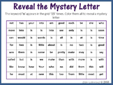 Sight Words; Reveal Mystery Letter M