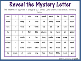 Sight Words; Reveal Mystery Letter P