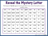 Sight Words; Reveal Mystery Letter Q