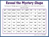 Sight Words; Reveal Mystery Shape  - Diamond