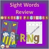 Sight Words Review Mystery Pictures Spring Pack 1