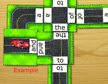 Sight Words Road Construction