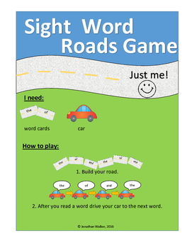 Sight Words Roads Game (Set 1)