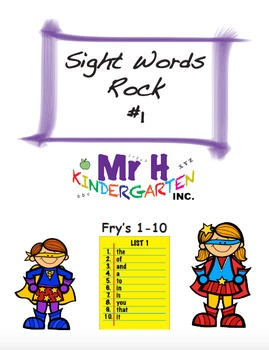 Fry's Sight Words Rock #1 (Fry's Sight Words 1-10) Full Version Free!!