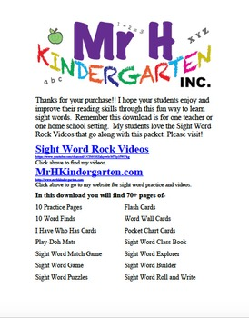 Fry's Sight Words Rock #3 (Fry's Sight Words 21-30)