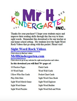 Fry's Sight Words Rock #4 (Fry's Sight Words 31-40)
