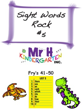 Fry's Sight Words Rock #5 (Fry's Sight Words 41-50)