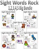 Sight Words Rock Big Bundle 1,2,3,4,5 (Fry's Sight Words 1-50)
