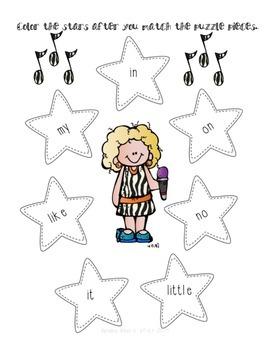 Sight Words Rock!- Kindergarten