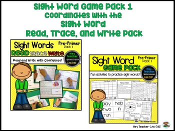 Sight Word Game Pack #1 {Pre-Primer Words}