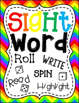 Sight Words: Roll, Read, Spin, & Highlight