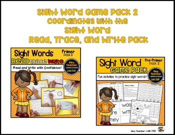 Sight Word Game Pack #2 {Primer Words}
