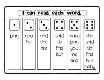 Sight Words: Roll, Read, and Write!