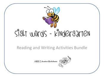 Sight Words Sample Bundle - Kindergarten