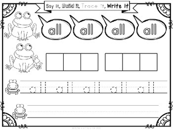 Sight Words (Say it, Build it, Trace it, Write it): Primer Edition