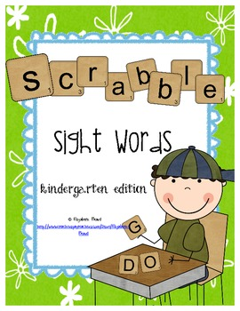 Sight Words Scrabble Kindergarten Sight Words: Add 'em Up!!