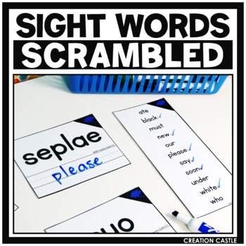 Sight Words Scramble
