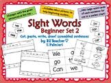 SIGHT WORDS Scrambled Sentences -- Beginner Set 2  (can, w