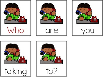 Sight Words Scrambled Sentences (Dolch Primer Set)