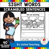 Sight Words Scrambled Sentences Pre-Primer Edition