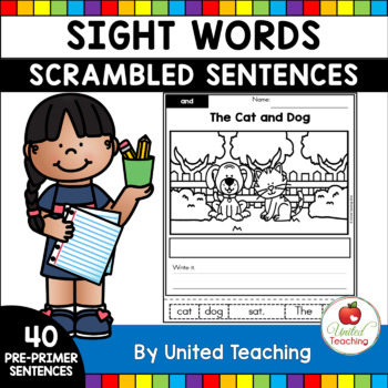 Sight Words Scrambled Sentences Pre-Primer Edition