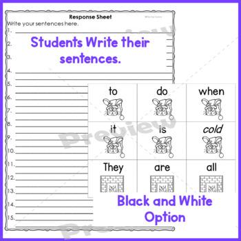 Sight Words Scrambled Sentences {Winter-Related} 1st-3rd Grades