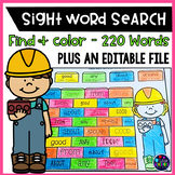 Sight Words Activities Packet (Editable) -Sight Word Search Worksheets