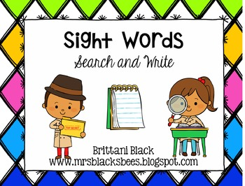 Sight Words~ Search and Write