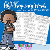Sight Words Secret Code Fall Winter Spring Center Activities | Distance Learning
