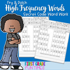 Sight Words Secret Code Mystery Words for All Fry Word Lists