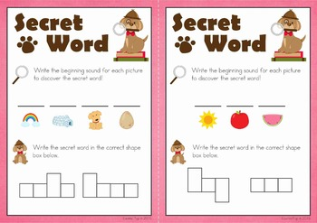 Sight Words Secret Word (Primer)